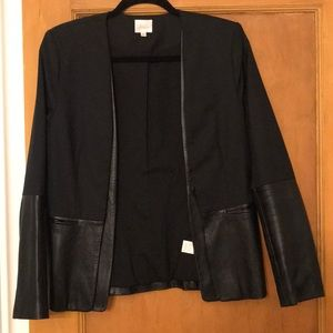 Black and Leather Blazer